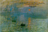 Claude Monet Impressionist sunrise: Torture of Art