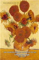 Van Gogh sunflowers Painting: Quote on sun
