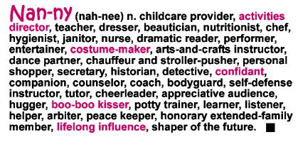 Definition of a Nanny