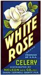 White Rose Fruit Crate Label