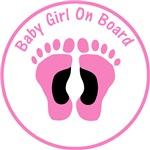 Baby Girl On Board White