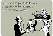 Funny Thanksgiving Cards: Fowl Carcass