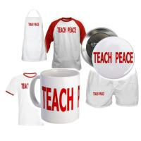 TEACH PEACE - red letters