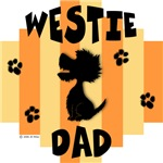 Westie Dad - Yellow/Orange Stripe