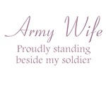 Army Wife - Standing beside