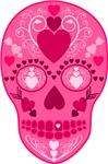 Pink Hearts Sugar Skull
