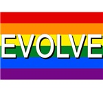 Evolve with Gay Pride Flag