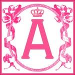 Pink Ribbon Scroll Monogrammed Totebag