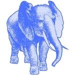 Big Blue Elephant Illustration