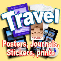 TRAVEL! Exotic posters,journals, luggage stickers