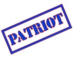 Patriot Stamp 4th of July or Flag Day