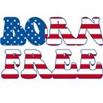 Born Free Red White and Blue Patriotic Design