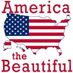 America the Beautiful with Flag for Independence D