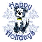 Blue Merel Border Collie Callie & Snowflake