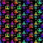 Peace Style 3 - on black