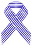 Blue and White Stripe Awareness Ribbon