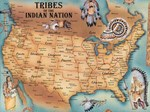 Tribes of the Indian Nations Map