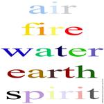 324. air fire water earth spirit.. (color)