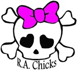 RA Chicks Cute Skull with Bow