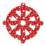 STAR WHEEL OF DHARMA (RED & WHITE)