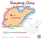 Shandong, China mini Map
