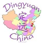 Dingyuan China Color Map