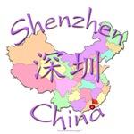 Shenzhen China Color Map