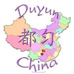 Duyun China Color Map