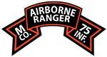 M Co 75th Infantry (Ranger) Scroll
