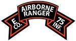 E Co 75th Infantry (Ranger) Scroll