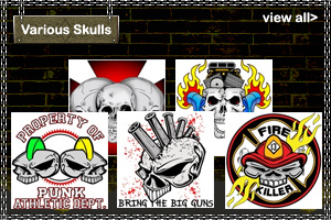 Various Skull and Tattoo T-Shirts and Gifts