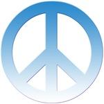 Blue Gradient Peace Sign