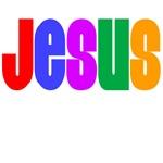 Jesus T Shirts (Rainbow)
