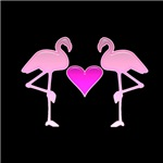 Flamingo Love (black)