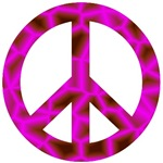 Pink Psychedelic Peace Sign