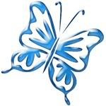 Blue Retro Butterfly