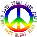 Peace & Love Around a Peace Sign