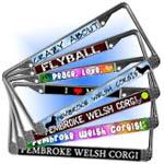 Pembroke Welsh Corgi License Plate Frames