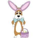 Corgi Easter Bunny