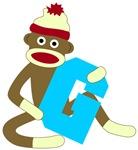 Sock Monkey Monogram Boy G