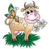 Cow & Butterfly