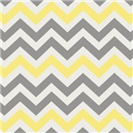 Gray & Yellow Chevron