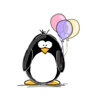 Pastel Balloons Penguin