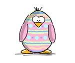 Pink Easter Egg Penguin
