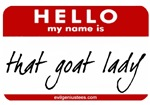 That goat lady tag
