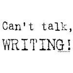 Can't talk, writing