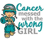 Combat Girl Ovarian Cancer Shirts and Apparel