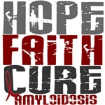 Hope Faith Cure Amyloidosis Shirts and Gifts