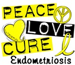 Peace Love Cure 1 Endometriosis Shirts and Gifts