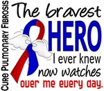 Bravest Hero I Knew Pulmonary Fibrosis T-Shirts an